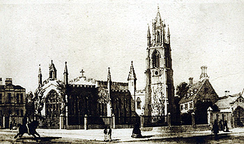 The old church from the east about 1850 [Z1086/14]